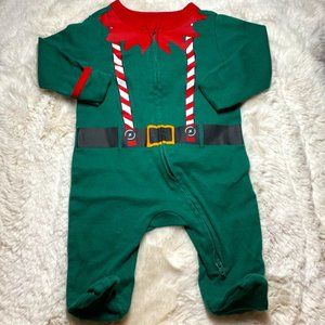 OLD NAVY ELF FOLD-OVER ONE PIECE FOOTIE 0-3 MONTHS